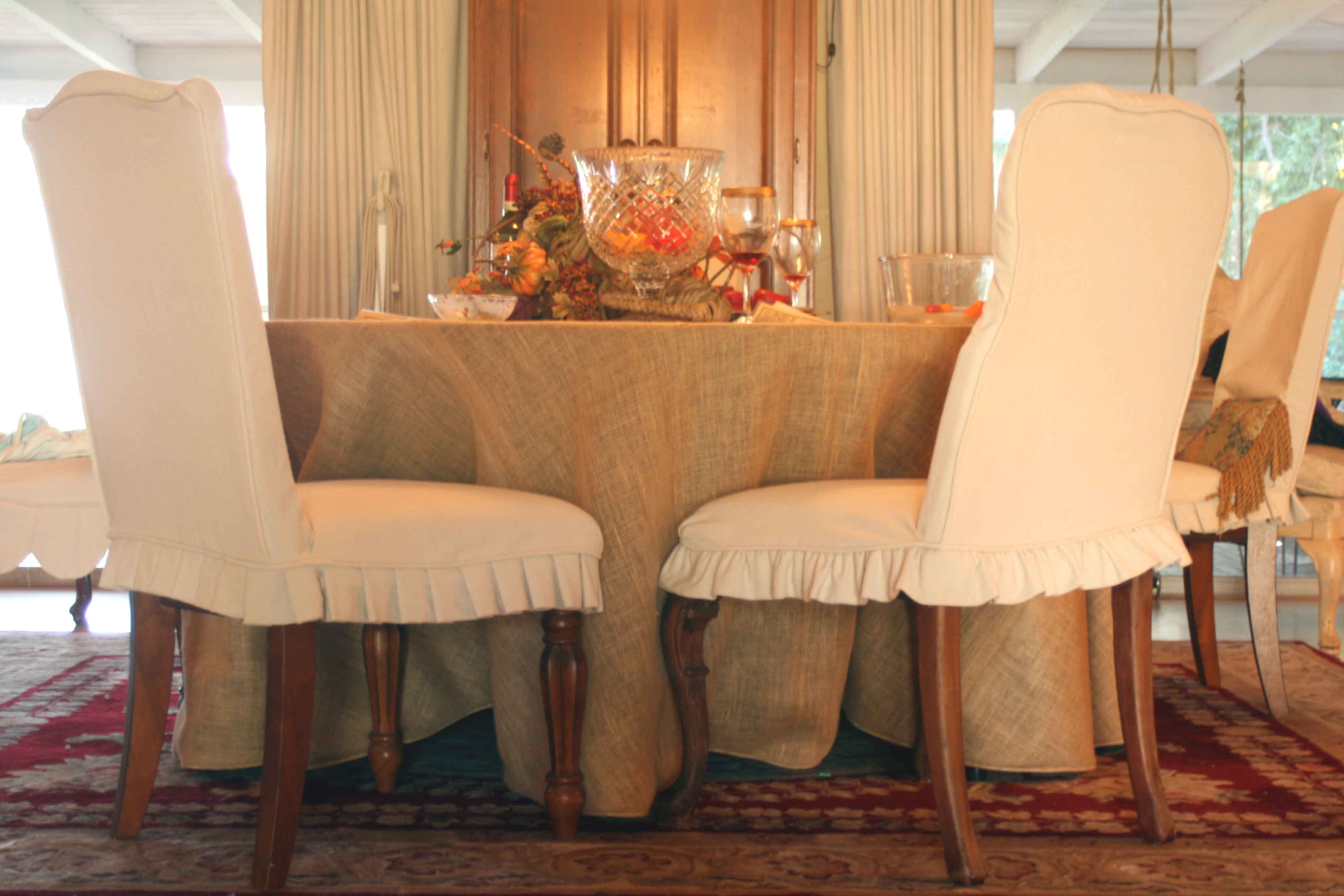 Dining chair slipcovers • mimzy & company