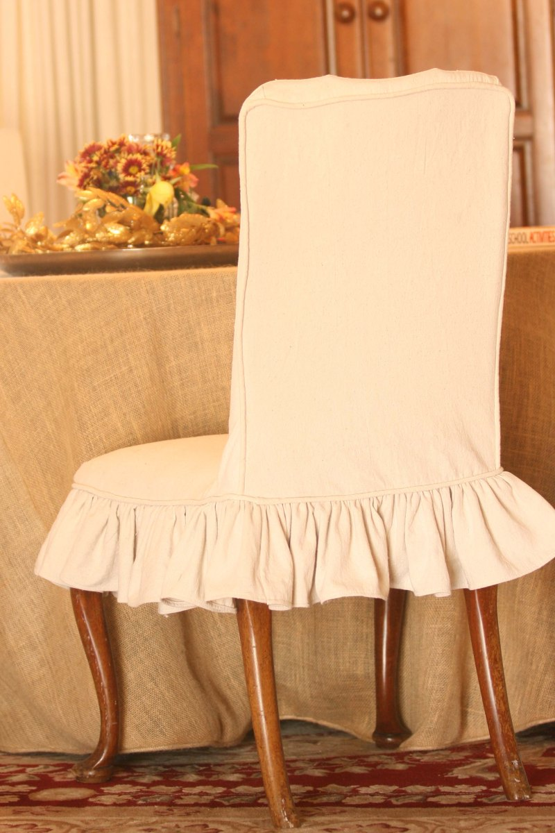 Linen Dining Room Chair Slipcovers How To Make A Dining Chair Seat Cover A Jerroda707