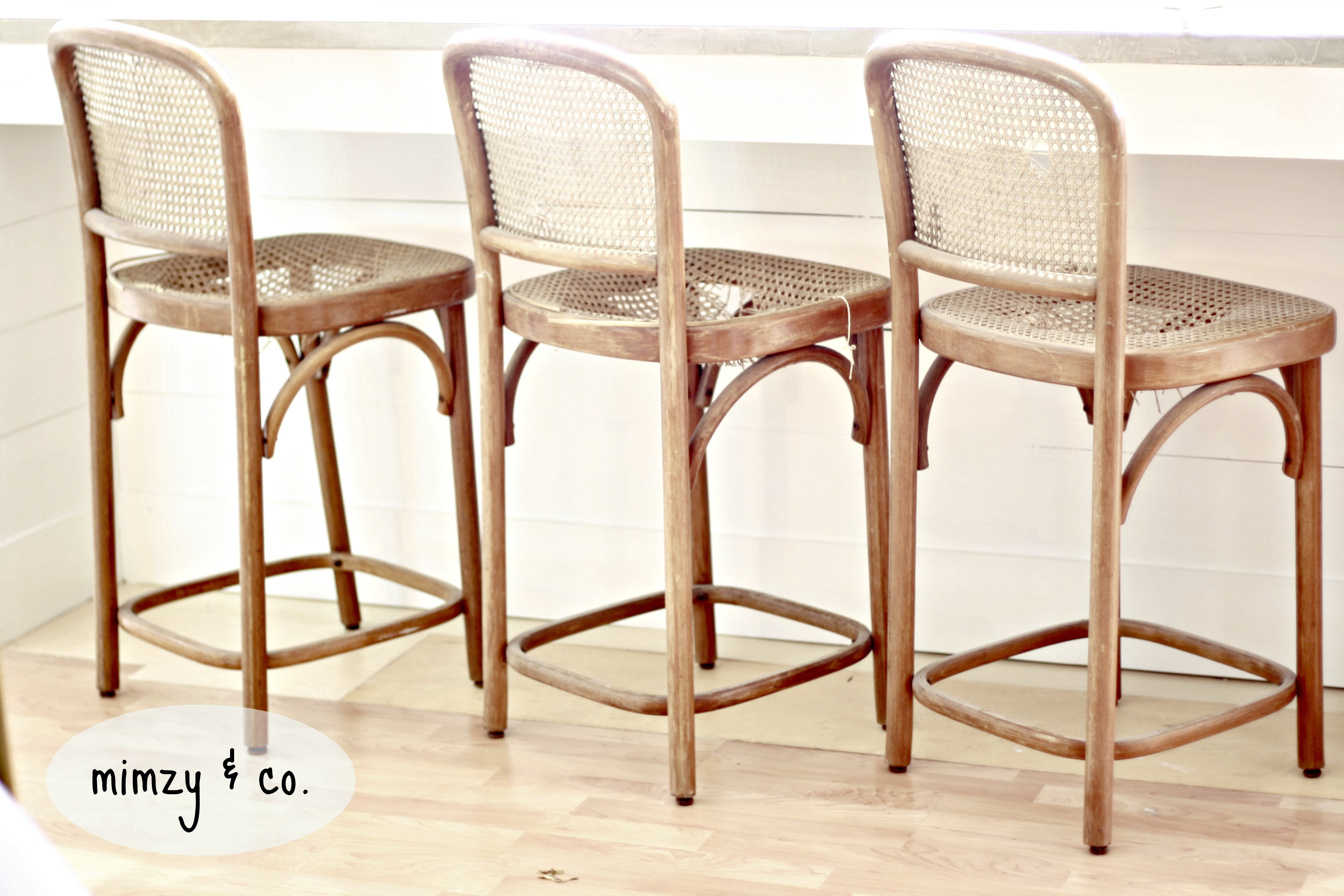 Marvelous photograph of bentwood cane barstools with #773418 color and 3318x2212 pixels
