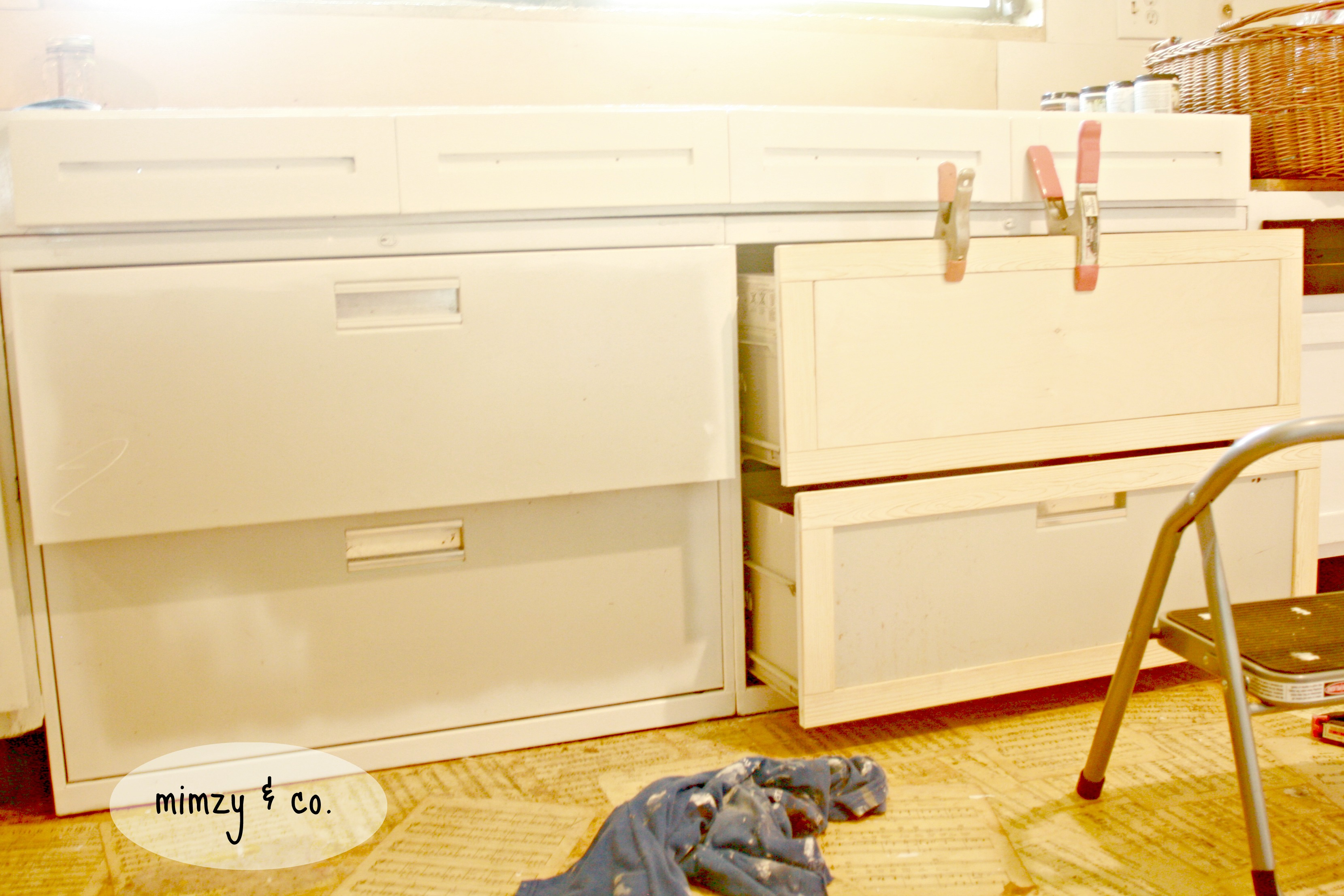 how to turn file cabinets into kitchen cabinets • mimzy & company