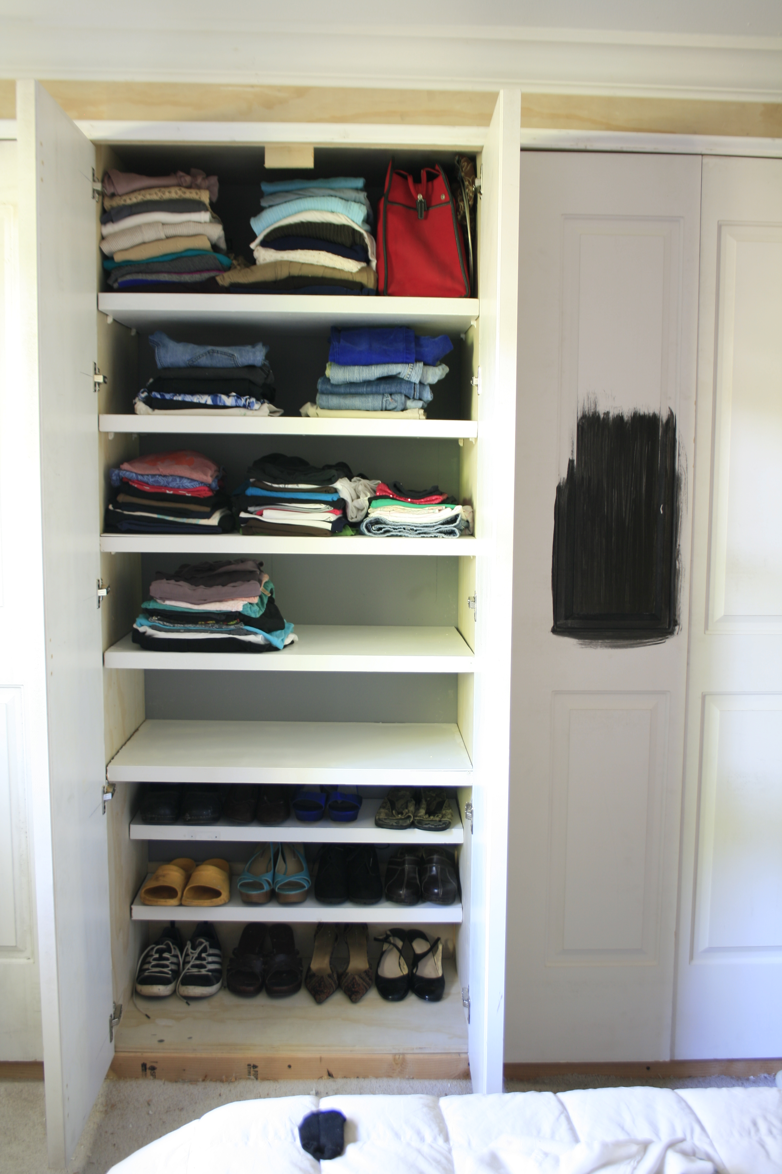 platinum ventilated the to poles zoom elfa plat store rod over closet container roll s components holder shelving