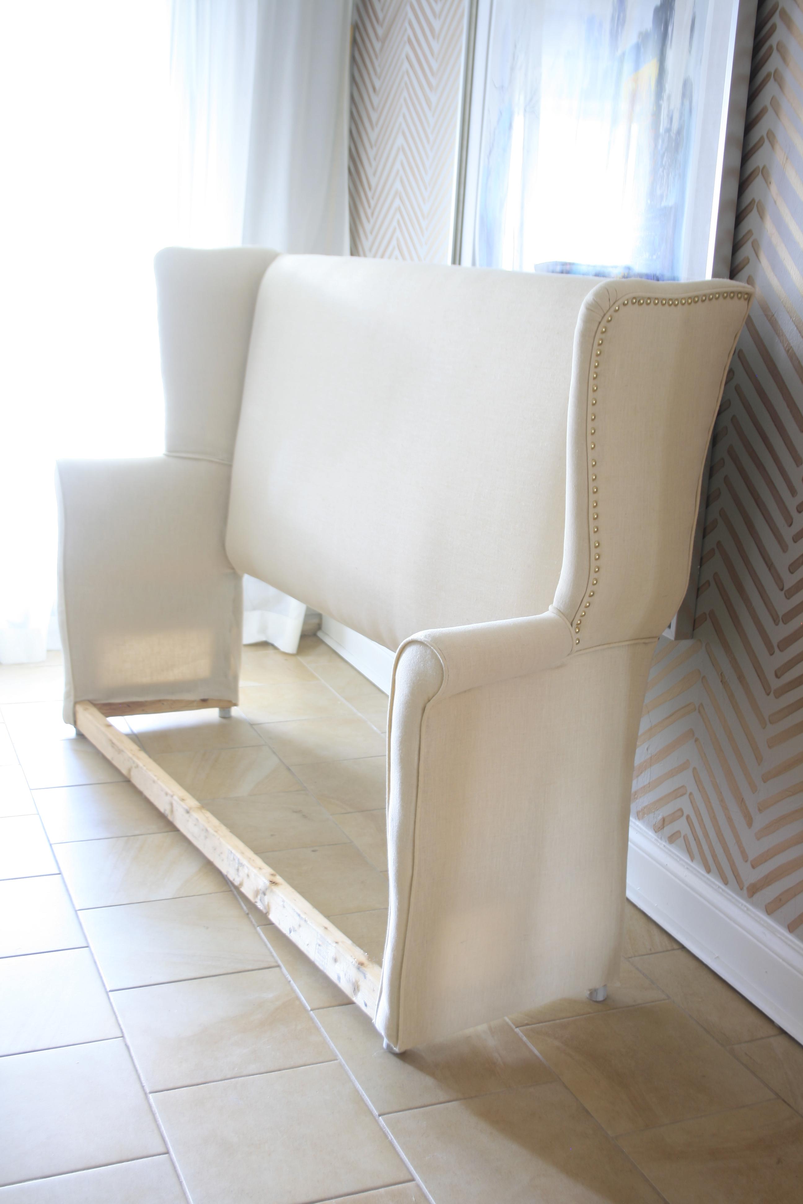 diy upholstered wingback headboard • mimzy & company