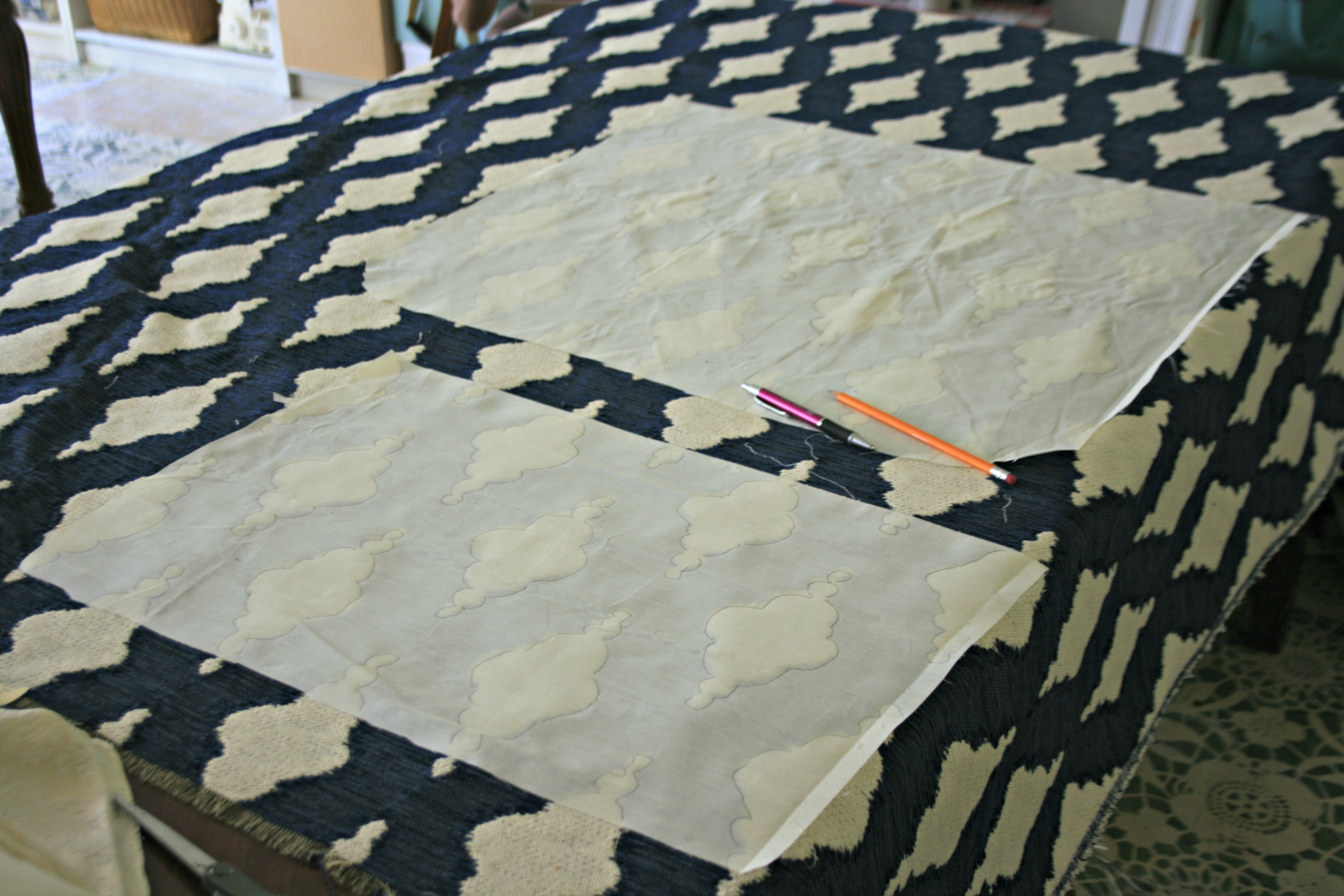 fabric pattern for reupholstering dining chairs